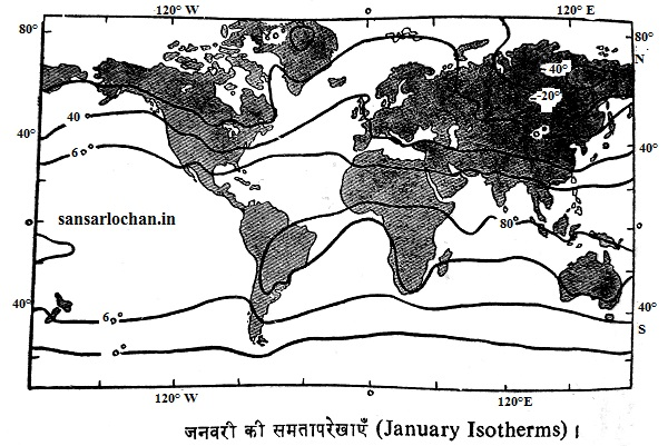 word january isotherms