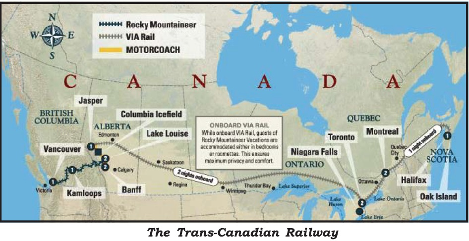 List and Details of Transcontinental Railroad of the World