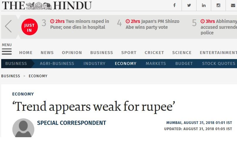 falling rupee the hindu