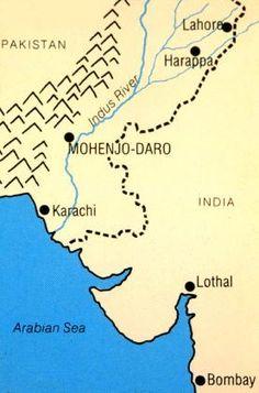 harappa mohan jodaro lothal map