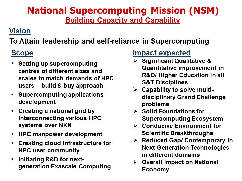 National-Supercomputing-Mission-NSM