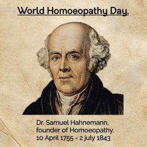 Dr. Christian Fredrich Samuel Hahnemann
