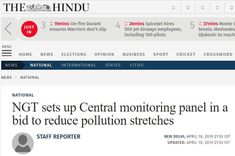 NGT sets up Central monitoring panel in a bid to reduce pollution stretches