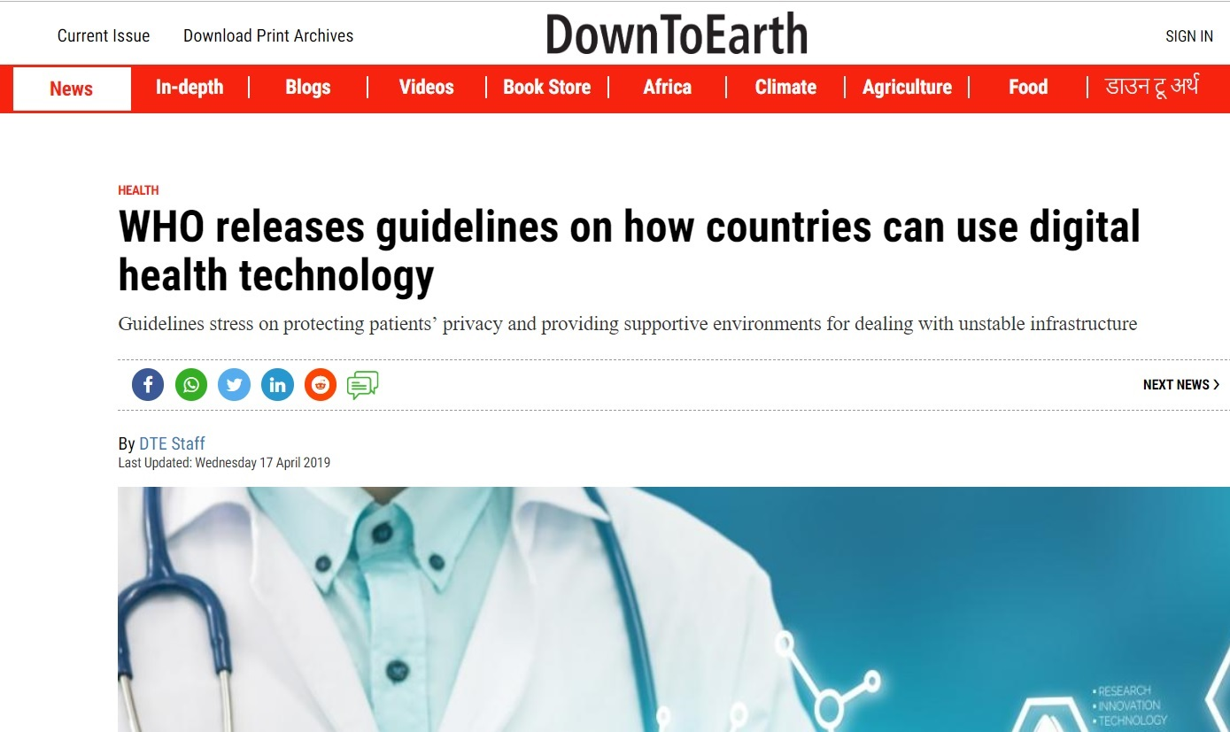 WHO releases guidelines on how countries can use digital health technology