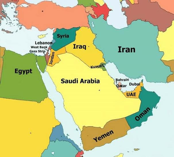 Saudi arab map
