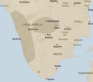 chera dynasty map