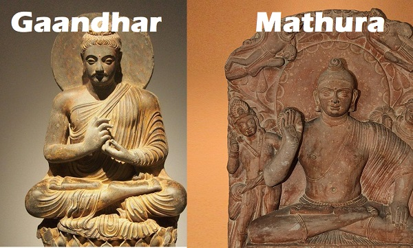 gandhar vs mathura art
