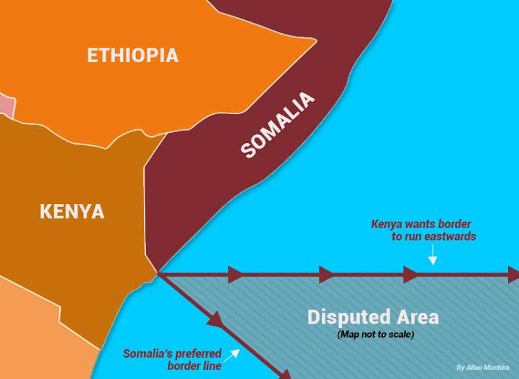 kenya somalia maritime dispute map
