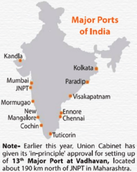indian ports map