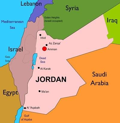 jordan world map