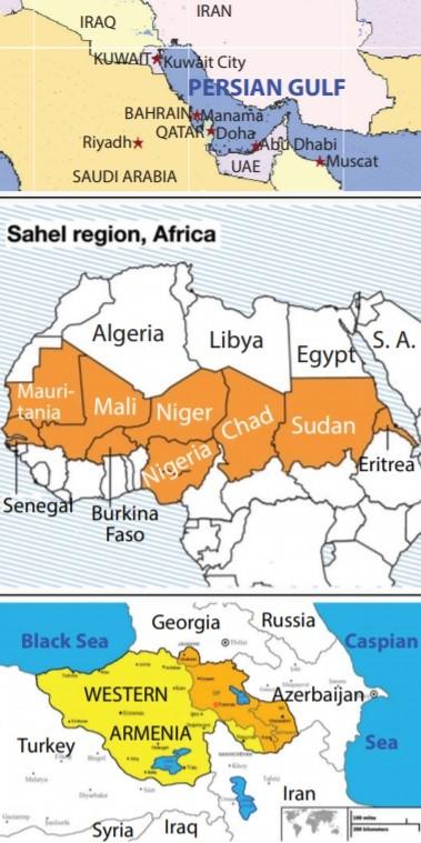 sahel persian gulf map
