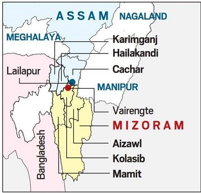 assam mizoram dispute map